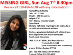 UPDATE!  Praying for missing 15 yr old Miloshi Mehta, Fremont, CA - 8/8/2011