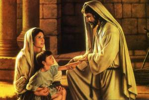 """With your mother's faith, and the prayers of many, today Christian, you are healed"""